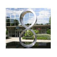 Buy cheap Number Eight Large Steel Sculptures , Stainless Steel Garden Sculptures product