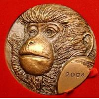 Buy cheap bronze relief monkey coin sculpture product