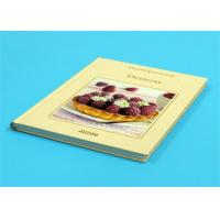 Buy cheap Gloss Lamination Customized Cookbook Printing , Hardcover A4 Book Printing product