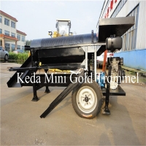 Buy cheap 115m3/H Gold Mining Machine Trommel Sieving 85kw 8m Length Gold Trommel Screen product