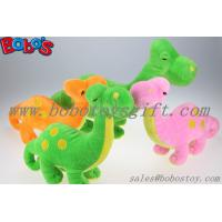 Quality Soft Orange Plush Dinosaur Toy With Embroidery Body for sale