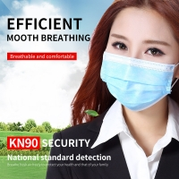 Buy cheap Printing Disposable Mouth Earloop 3 Ply Face Mask product