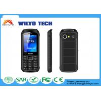 Buy cheap 600 Mah Battery Black Mobile Feature Phone With Wifi / Dual Sim product