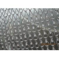 Buy cheap Silver Insect Mosquito Aluminium Fly Screen Chain Curtain , Aluminum Mesh Screen product