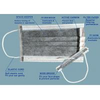 China Disposable 4 ply Lightweight and comfortable Face Mask with Activate Carbon,white or black ,17.5*9.5cm on sale