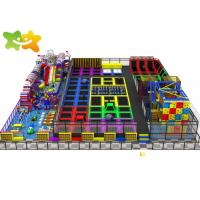 Large Size Trampoline Park Equipment Multi Function High Safety Low  Maintenance