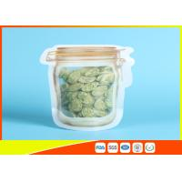 Buy cheap Household Reusable Stand Up Ziplock Bags Food Can Shaped Plastic Packaging Bag / Mason Jar product