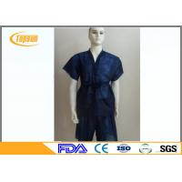 Buy cheap Blue Non Woven Disposable SPA Sauna Bathrobes , Kimono Sauna Suit Gown For SPA product
