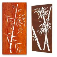 Buy cheap corten steel laser cut garden screens metal fencing trellis & gates product