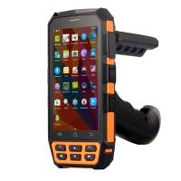 Buy cheap Long Range Handheld RFID Reader Android 5.1.1 Bluetooth Barcode Scanner IP65 product