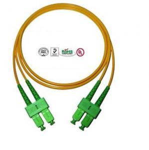 Buy cheap Single Mode SC Fibre Optic Patch Cords APC , Full Duplex Fiber Optic Cable product