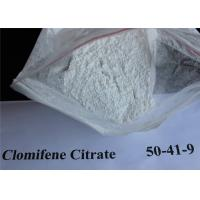 Quality Clomid Anti Estrogen Steroids , Clomiphene Citrate CAS 50-41-9 For Treating Infertility for sale