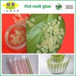Buy cheap EVA Hot Melt Packaging Light Yellow Granule , Beverage Drink Packaging Adhesive Glue product