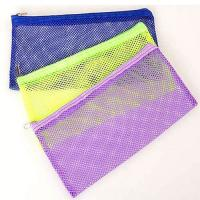Buy cheap Transparent Clear Plastic Mesh Pencil Pouch 23*15cm One Pocket For Teenagers product