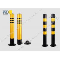 Buy cheap Anti Crash Removable Security Bollard Powder Coated Finish Vehicle Access Control product
