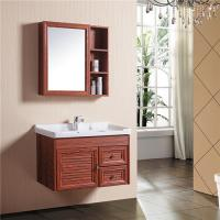 Buy cheap Aluminum Alloy Bathroom Sinks And Vanities With Mirror Cabinet / Two Drawers product