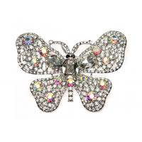 Buy cheap Silver Plated Fashion Crystal Bridal Jewelry Butterfly Crystal Brooches  B8804513 product