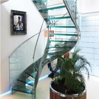 Buy cheap High Quality Indoor / Outdoor Stair Steps Lowes for Carbon Steel Curved Staircase with Open Riser Steps product