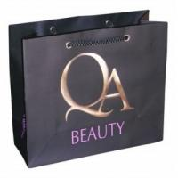 Buy cheap Ivory cardboard paper shopping bag any color printing any size product
