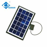 Buy cheap 2.5W 6V Glass Laminated Solar Panel for mini solar panel charger ZW-2.5W-6V Residential Solar Power Panel product