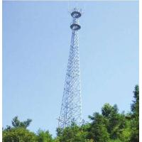 Buy cheap 60 M Steel Tubular Tower , Telecommunications Towers  75(100) / 100(130)  Wind Speed product