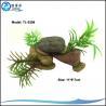 China  Custom Mini Stone Design Aquarium Resin Ornament With Aqua Plants Decorations  for sale
