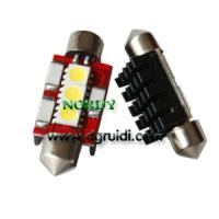 Buy cheap Led Festoon canbus light 3SMD5050 No Error LED Bulbs 0.8W 12Vwhite yellow red blue green amber product