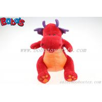 Buy cheap Hot Sale Soft Plush Red Dinosaur Toy With Purple Shiny Wings product