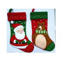 Fashion red christmas stocking patchwork embroidered for Fashion christmas stockings