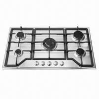 Buy cheap Gas Hob, 5 burners built-in stainless steel gas stove product