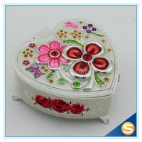 China Hand Oil Printed Metal Storage Box for Jewelry with Beautiful Flowers for sale