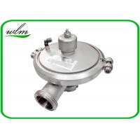 China Male Thread Sanitary Pressure Relief Valve , Stainless Steel Pressure Relief Valve wholesale