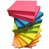 Quality 3 X 3 cm Matt Lamination Colorful Sticky Notes , 12 Pads 1200 Sheets Memo Pad Paper for sale