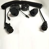 Buy cheap Black Trailer 7 Pin Trailer Extension Cord For Rear View Camera Monitoring System product