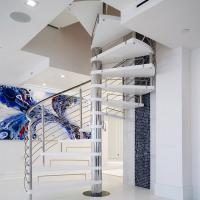 Buy cheap Stainless Steel Spiarl Staircase Custom Delicate Spiarl Staircase Design Internal Safe Spiral Staircase product