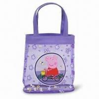 Plastic Tote Bag, Customized Designs and Logos are Accepted