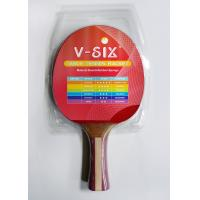 China 7mm Plywood Table Tennis Rackets Contour Handle With Multi Laminate Grip wholesale