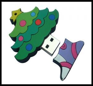 Buy cheap Christmas usb for gift/silicone Christmas tree usb/Custom cartoon PVC usb flash drive product
