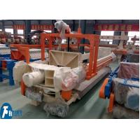 Buy cheap 100m2 Industrial Filter Press Fully Automatic Controlled With Filter Cloths Washing Device product