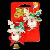 Buy cheap BP Clips with Decoration for Christmas Day, Available in Various Designs and Colors product