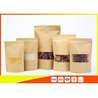 Buy cheap Kraft Paper Coffee Bags / Resealable Food Packaging For Tea , Snack product