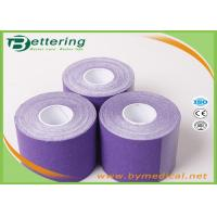 China Elastic Athletic Kinesiology Physiotherapy Tape , Colored Kinesiology Tape Knee Support on sale