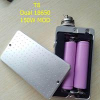 Buy cheap New popular T8 box mod 150w chip e Ecigarette fit ego ce4 510 Atomizer Double 18650 Battery 150w T8 Box Mod power bank from wholesalers