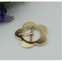 Buy cheap Design simple 32 mm light gold large flower belt buckle pin buckle bag cover head decoration for clothing hardware product