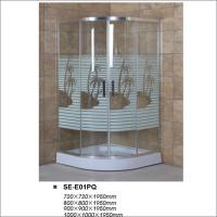 Buy cheap Painted Glass Bathroom Shower Enclosures With Sliding Door Aluminum Frame product