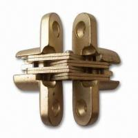 Buy cheap Zinc-alloy Conceal Cabinet Hinges with Brass or Nickel Plating product