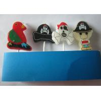 China Kids Happy Birthday Cake Candles Cartoon Sets With Pirate ISO Certificated wholesale