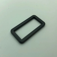 Buy cheap Rectangle 20.5mm Metal Duty Belt Buckle Iron Black Plating product