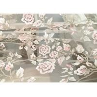 Buy cheap Exquisite Multi Colored Lace Fabric with Blush Pink And Metallic Yarn Embroidered product