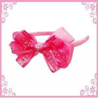 China Ribbon Bow &Stone Headband on sale